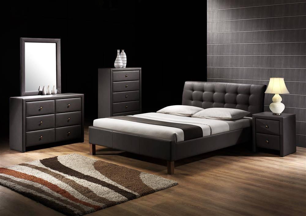 Designerskie łóżko Do Sypialni Samara 160200 Czarny