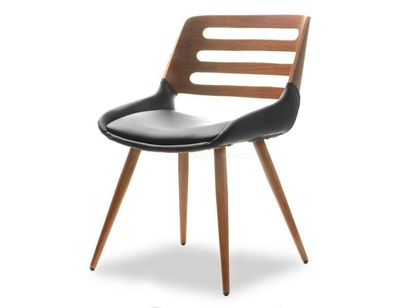 Groovy Krzesło na drewnianych nogach KANSAS orzech/czarny 15267 WX47