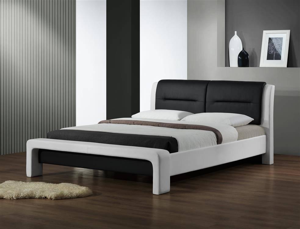 łóżko Do Sypialni Cassandra 160 Czarno Białe