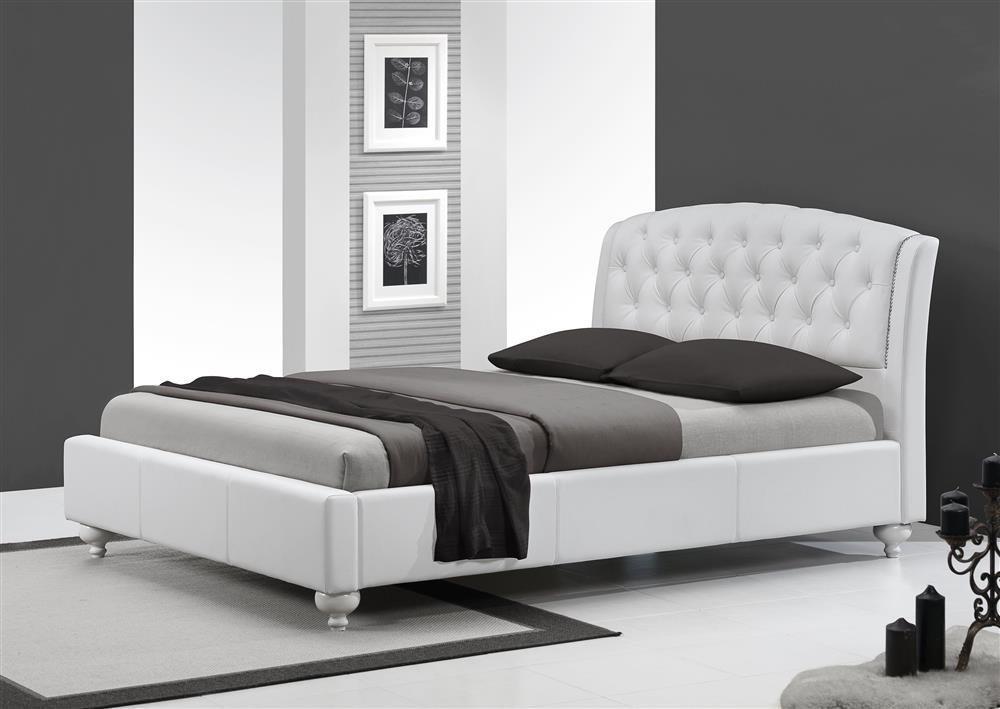 Nowoczesne łóżko Do Sypialni Sofia 160200 Biały