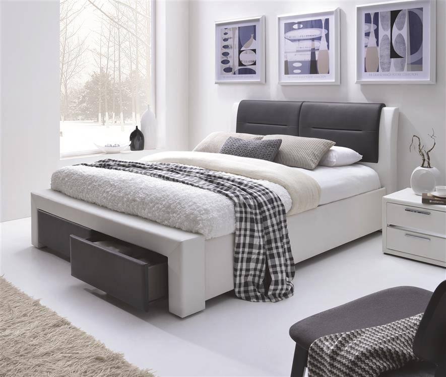 Nowoczesne łóżko Do Sypialni Z Szufladami Cassandra S 140200 Czarno