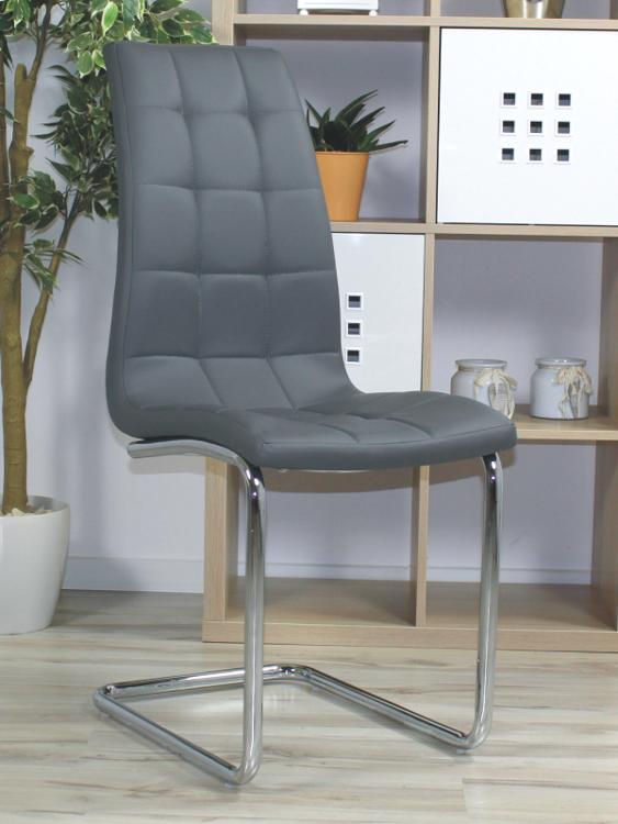 Genialny Pikowane krzesło na płozach Corso A szare 16057 | Nowoczesne meble CN43